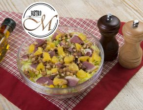 Salata cu piept de rata afumat